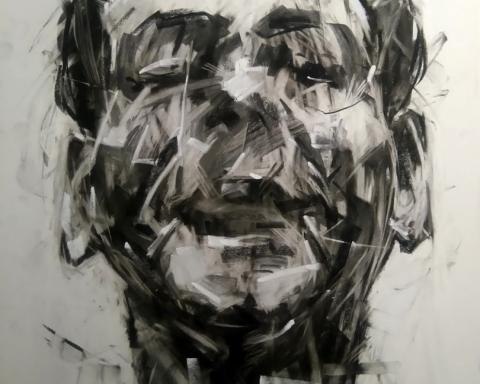 Ανδρούτσος Γιώργος, Ο γελαστός ποιητής, 70x50cm, (Large)