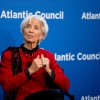 """In this Thursday, April 9, 2015 photo, International Monetary Fund Managing Director Christine Lagarde speaks at the Atlantic Council in Washington.  The IMF predicted Tuesday, April 14,  that the American economy will grow 3.1 percent this year and next, a performance the fund characterized as """"robust."""" But the U.S. outlook was down from the IMF's January forecast of 3.6 percent growth in 2015 and 3.3 percent growth in 2016. The American economy advanced 2.4 percent last year.(AP Photo/Andrew Harnik)"""