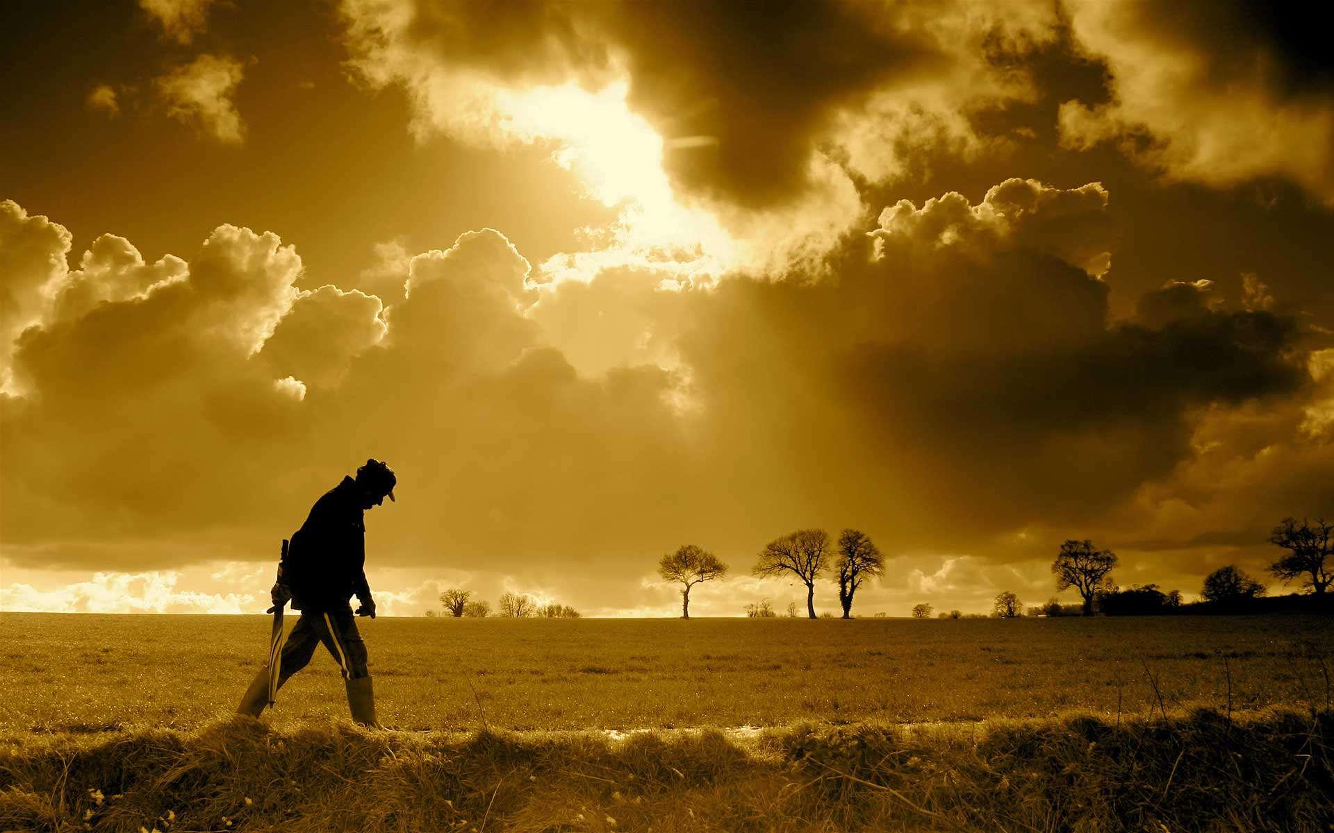 Man-Walking-In-Nature-Wallpaper-Beautiful