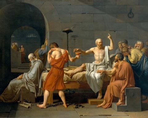 2.-Jacques-Louis-David-The-death-of-Socrates-1787